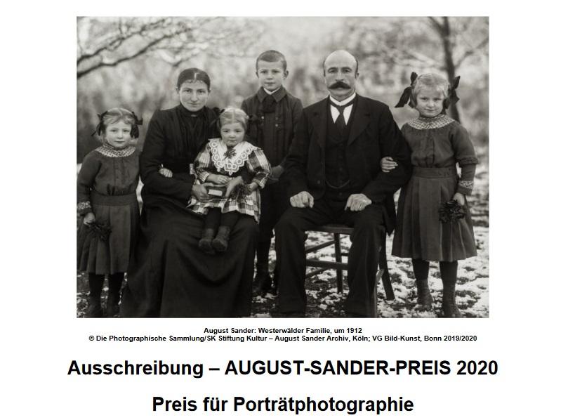 August-Sander-Preis für Porträtphotographie