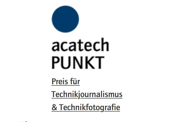 PUNKT Preis für Technikfotografie